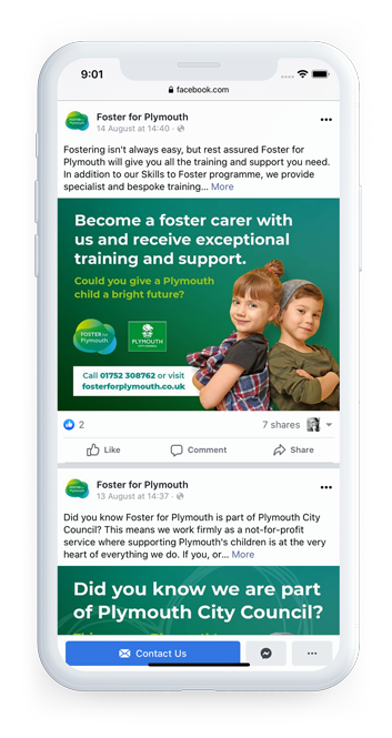 Plymouth City Council - Foster for Plymouth Branding Facebook Post 3
