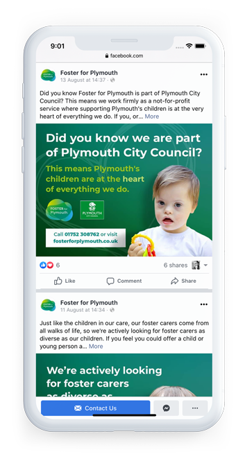 Plymouth City Council - Foster for Plymouth Branding Facebook Post 4